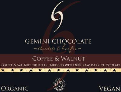 coffee and walnut truffle