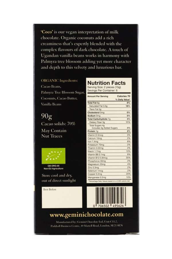 Coco - Nutritional Info