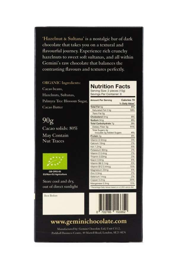 Hazelnut & Sultana - Nutritional Info