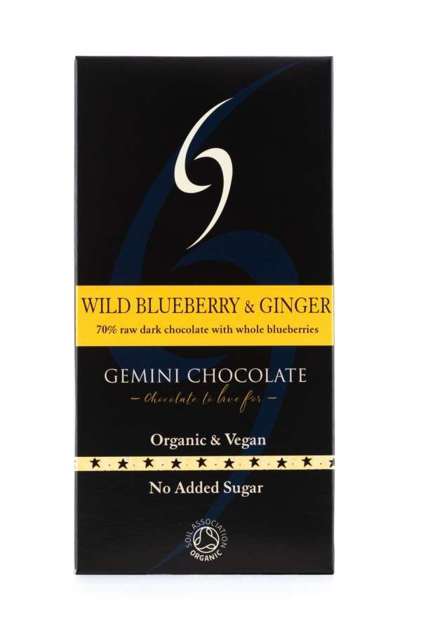 Wild Blueberry & Ginger - Raw Date Chocolate