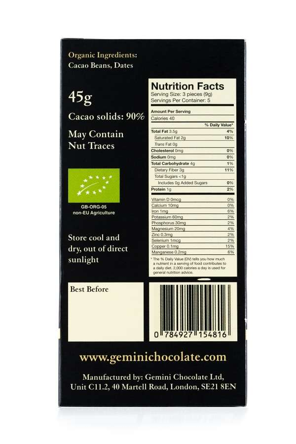 eve 90 percent nutritional info
